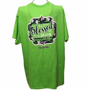Too Blessed to be Stressed Cherished Girl T-shirt